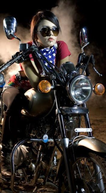 Mila Islam Bangladeshi Singer On Bike