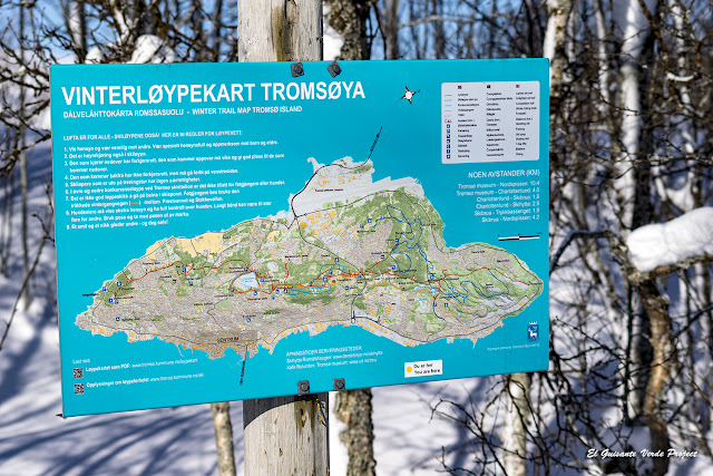 Mapa Winter Trail Map Tromsø Island - Noruega por El Guisante Verde Project