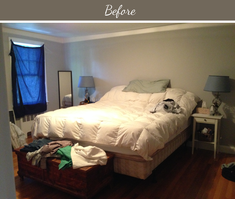 Design fixation before after a yellow and gray for Bedroom makeover