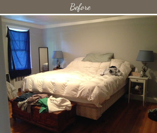 Before and After: A Yellow and Gray Bedroom Makeover