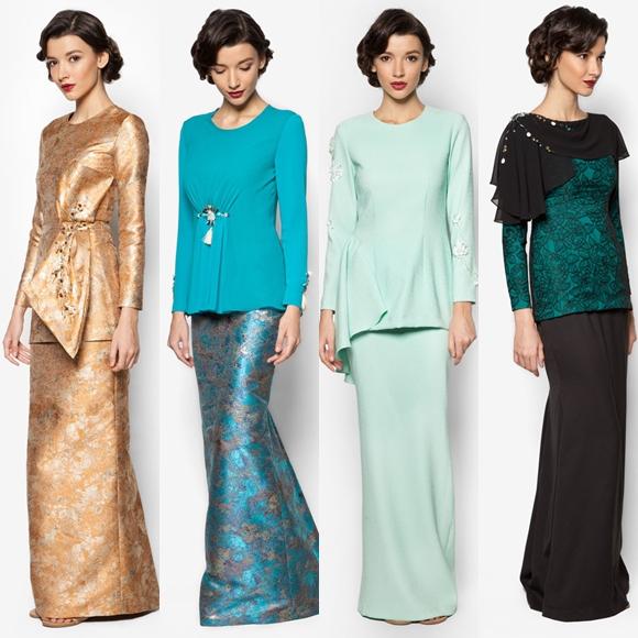 Fesyen Baju Raya 2016 Terkini Jovian Mandagie Baju Kurung Moden