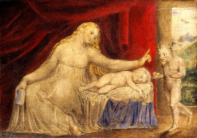 The Virgin Hushing the Young John the Baptist (1799) - William Blake