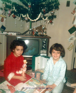 Yvonne and Marianne at Christmas 1968