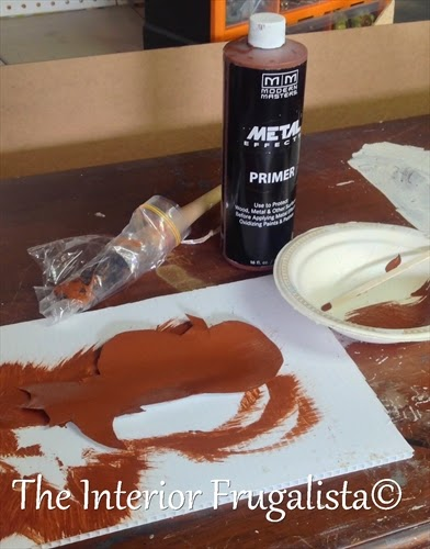 Metal Effects Primer on tin pumpkin art