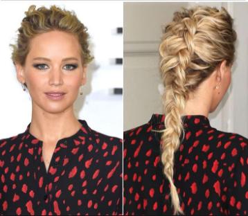 Luxury Makeup - (How To Jennifer Lawrence`s Dutch  Braid Hair Tutorial)
