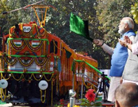 In Varanasi, Modi Flags Off The World's First Diesel To Electric Locomotive