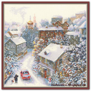 Cross-stitch Riolis 1678 «Snowy Winter»