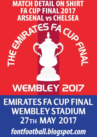 Font Football Match Detail Date On Shirt Vector Fa Cup Final The
