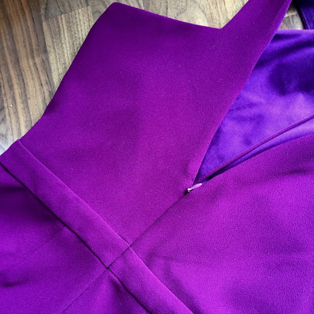 Diary of a Chain Stitcher: Berry Triple Crepe Named Ailakki Jumpsuit