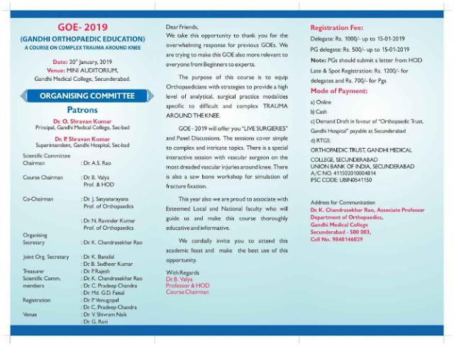 GANDHI ORTHOPAEDIC EDUCATION GOE 2019
