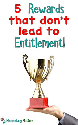 5 Rewards that don't lead to Entitlement - here are 5 ideas that can be used to encourage children to take pride in their work, but not feel entitled to rewards.
