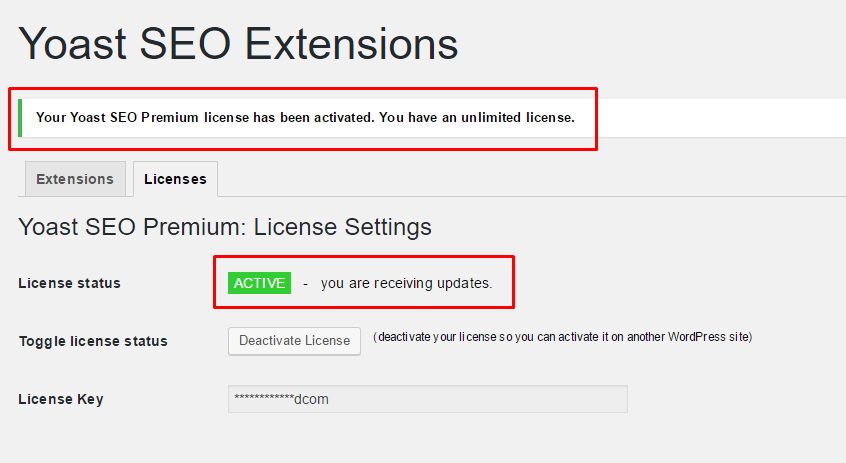 yoast seo premium license key free