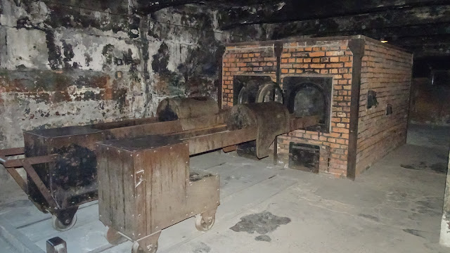 The ovens where people got burned in Auschwitz