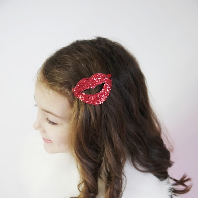 DIY Valentine's Day Kiss Lips Hair Accessory