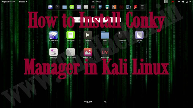 How to Install Conky manager in Kali Linux