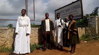 Christian students appear in church garments in Osun