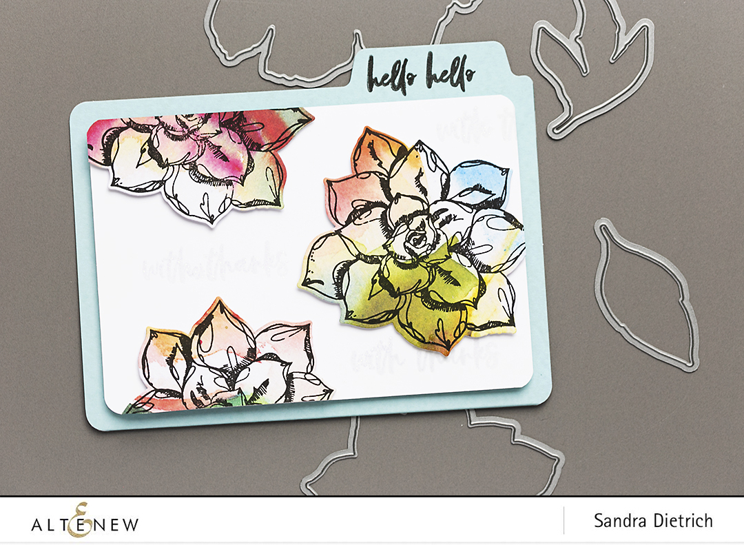 Easy DIY Notebook and Folder with Altenew Inked Flora Stamp Set