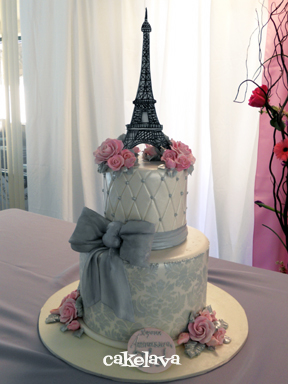 Cakelava Elegant Parisian Birthday Cake
