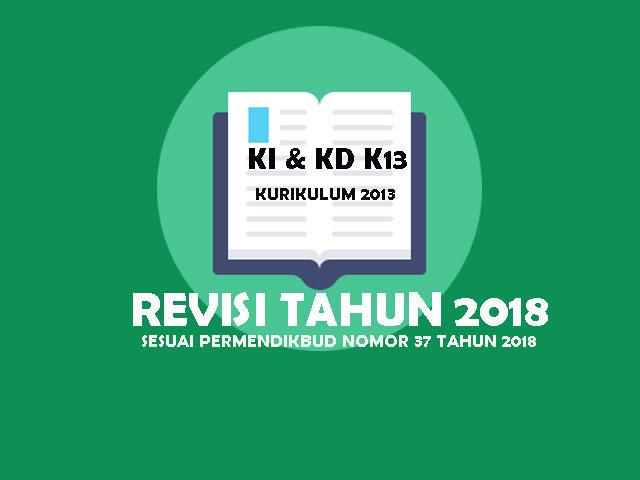 KI dan Kd Kurikulum 2013 Revisi 2018 Kelas 4