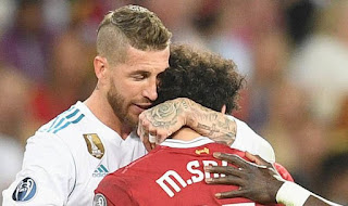 Sergio Ramos and Mohamed Salah