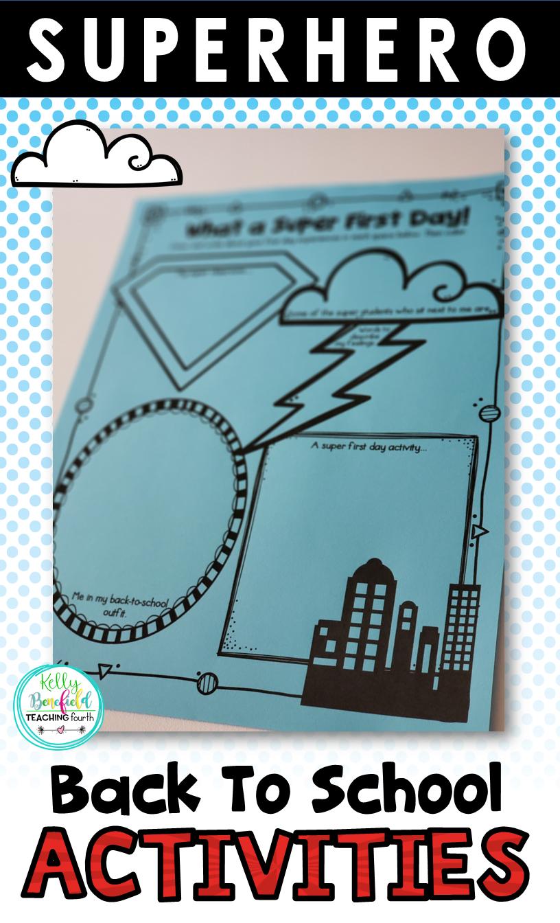 Superhero Activities for Back to School | Teaching Fourth | Bloglovin\'