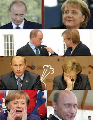 Angela Merkel und Putin lustig - pupsen