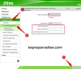 cara mengubah user dan password modem wifi indihome zte f609 fiber
