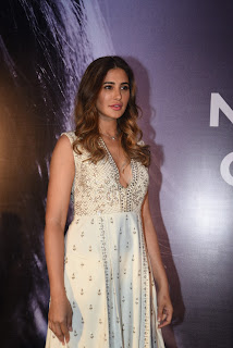 Nargis Fakhri with her duck lips at launch of her own App Nargis Fakhri App