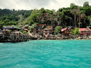 After finishing the dive, returning to tioman