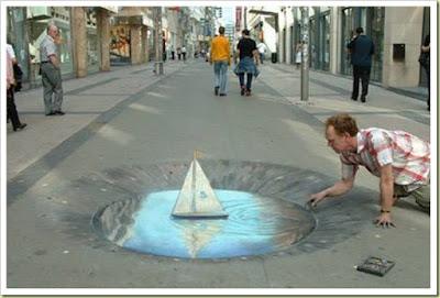 Fantastis! 15 Lukisan 3D di Lantai Ini Dapat Menipu Mata Anda