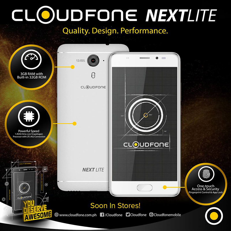 CloudFone Next Lite Teased, A More Affordable Snapdragon 430 Phone?