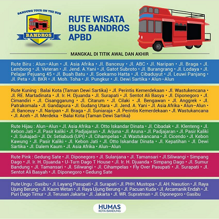 Yuk, Keliling Kota Bandung Naik Bandros!