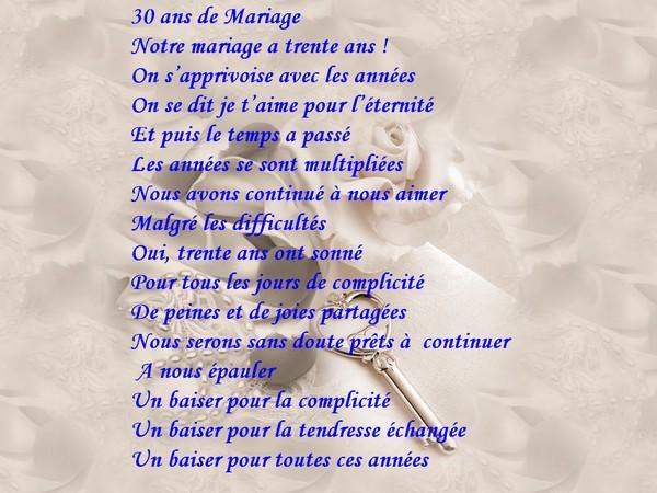 Texte Anniversaire De Mariage 30 Ans Humour