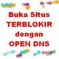 buka situs dengan open DNS
