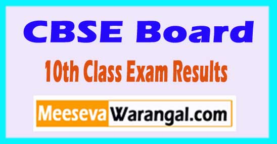 CBSE Board 10th Class Exam Results