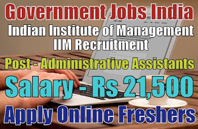 IIM Recruitment 2019