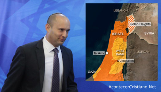 Naftalí Bennett pide soberanía de Israel de los Altos del Golán