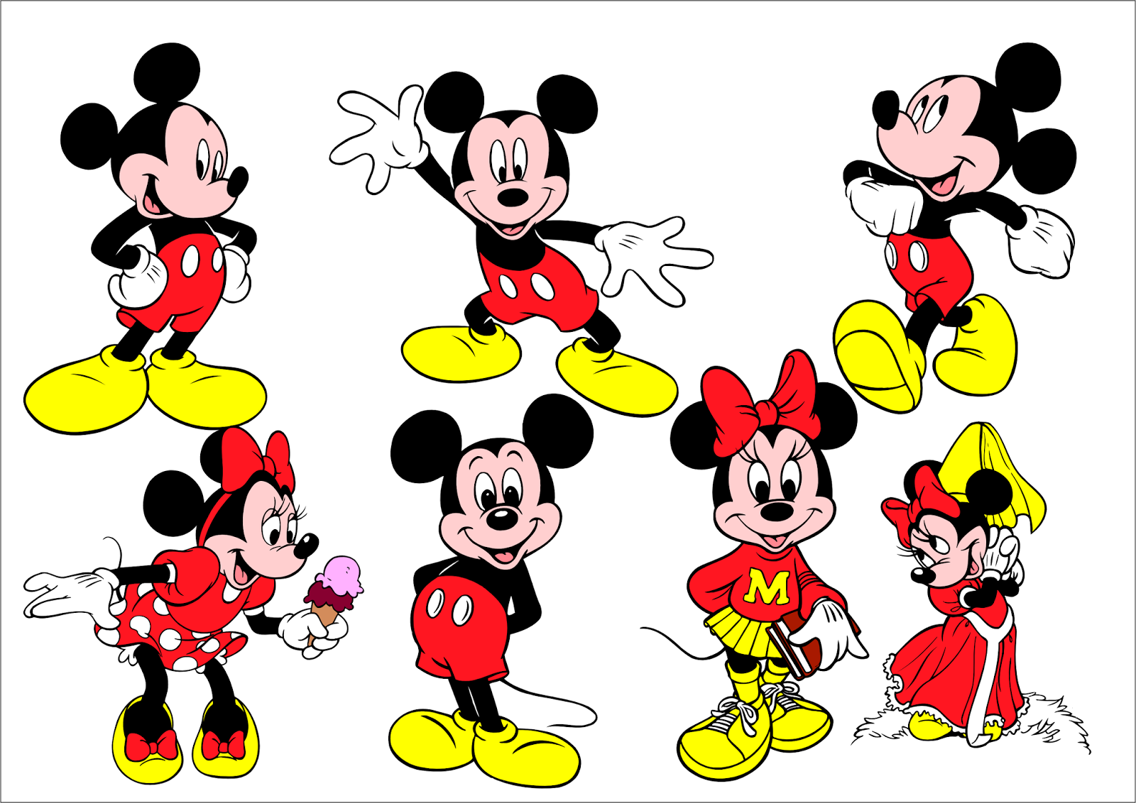 clipart mickey e minnie
