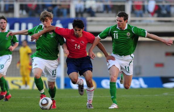 Chile e Irlanda del Norte en partido amistoso, 30 de mayo de 2010