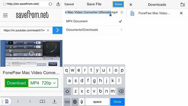 طريقة التحميل من اليوتيوب لل iPhone و iPad