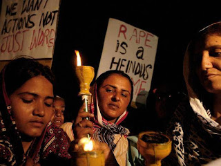 Woman 'gang raped' after marrying man of her own choice.