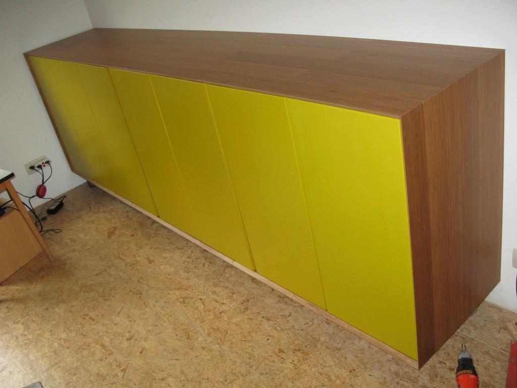Suspended wall cabinet ivar ikea hackers