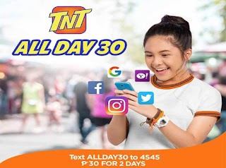 Talk N Text All Day 30 – Internet Promo for Only 30 Pesos up to 2 Days
