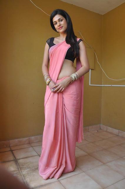South Actress Shraddha Das Hot in Pink Saree