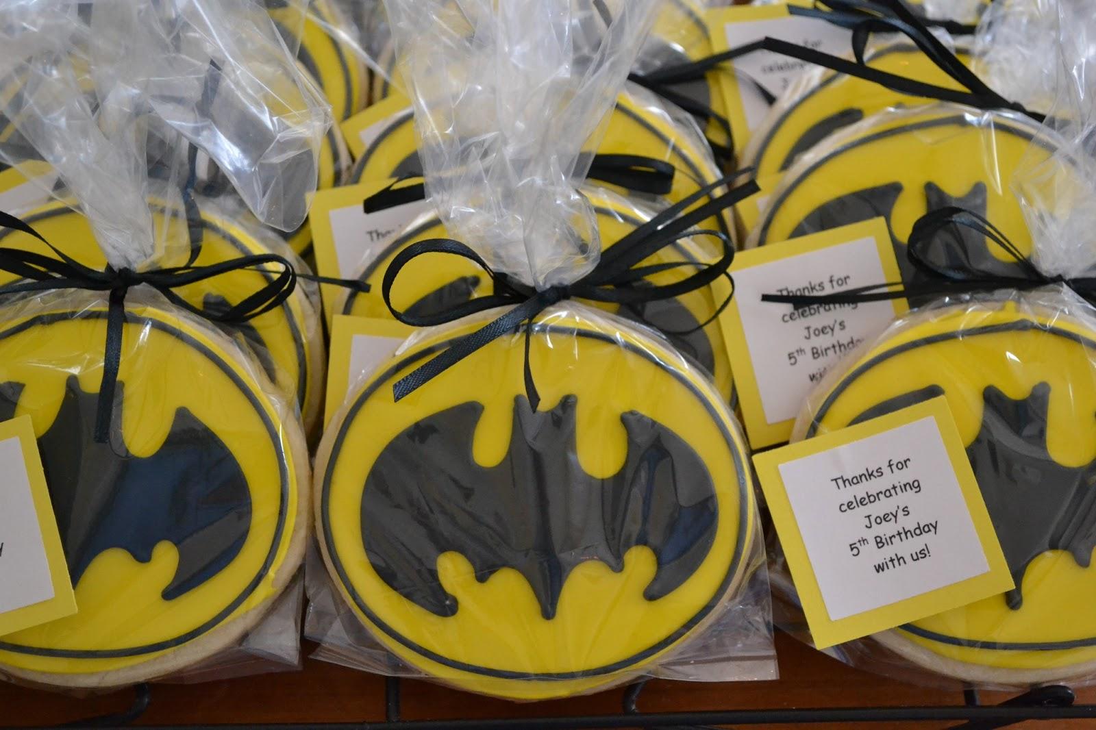 Jackandy Cookies Batman Cookie Favors