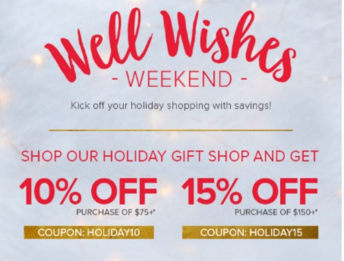 Well.ca Well Wishes Weekend Up To 15% Off