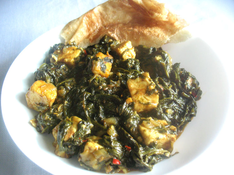 Palak Paneer Spinach With Paneer Cheese Lisa S Kitchen Vegetarian Recipes Cooking Hints Food Nutrition Articles
