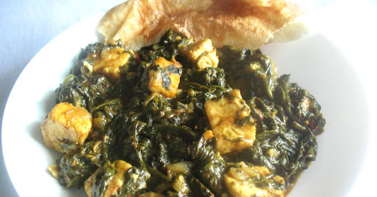 Palak Paneer (Spinach with Paneer Cheese)
