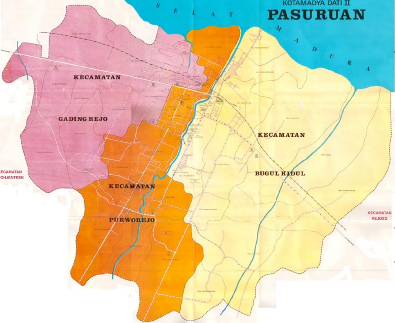 Peta Kota Pasuruan