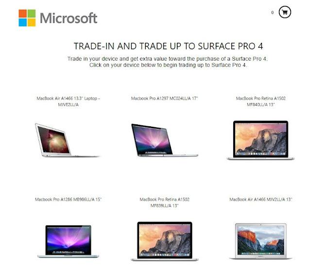 """Chương trình """"Đổi Macbook lấy Surface"""" của Microsoft gây sốt"""